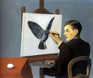 La Clairvoyance - by Rene Magritte